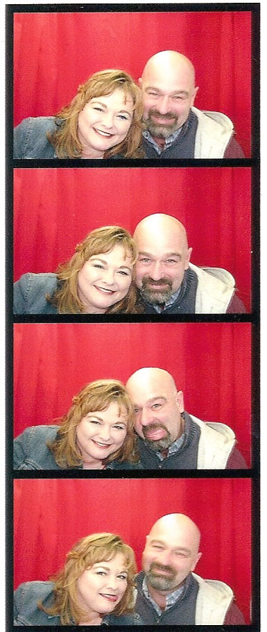 Stacy and Mario in a Photo Booth